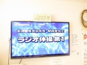 食堂のテレビに映し出されます。テレビが大型なので、迫力充分です\(◎o◎)/!
